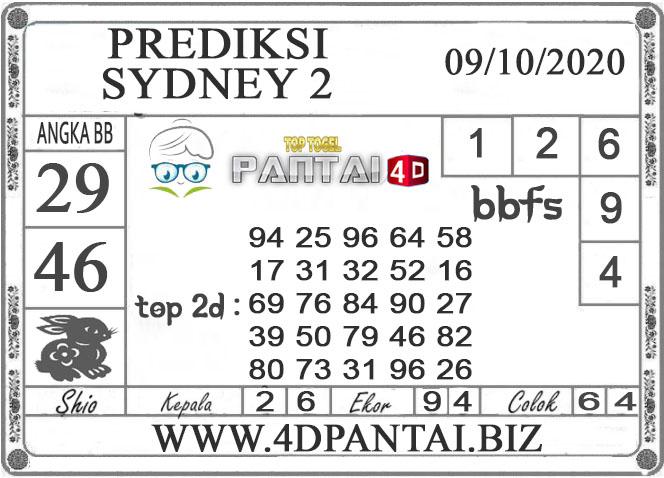 PREDIKSI TOGEL SYDNEY 2 PANTAI4D 09 OKTOBER 2020