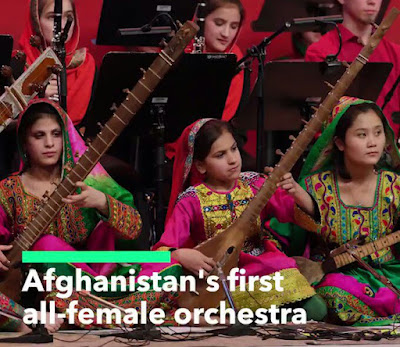 FIRST AFGHAN ALL FEMALE ORCHESTRA ARE USING MUSIC TO BRING PEACE TO THEIR COUNTRY