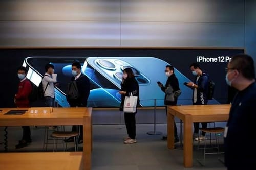The iPhone 12 launch in China has seen short queues compared to previous years