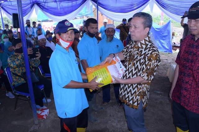 Bupati Beri Bantuan Bibit Sawit Program Peremajaan Sawit Rakyat (PSR)