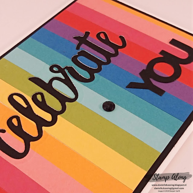 Stampin' Up! Celebrate You Rainbow card