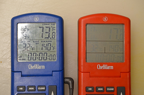 Defective Thermoworks ChefAlarm remote probe thermometer