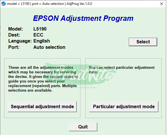 Download Epson L5190 Adjustment Program Fix Waste Ink Pad Error