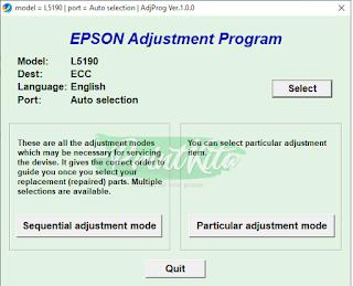 Epson L5190 Adjustment Program Download