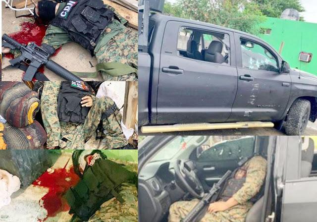 Suspenden a Policías por ejecución de 8 Sicarios del CDN, las identidades de los elementos, así como su vida en peligro