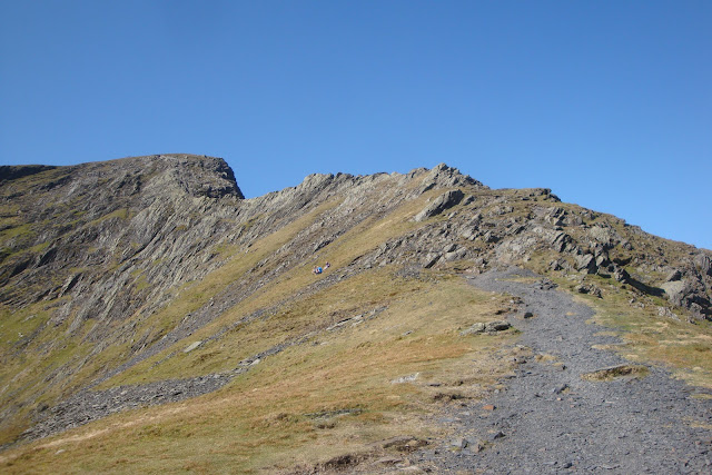 the start of the sharp edge ascent