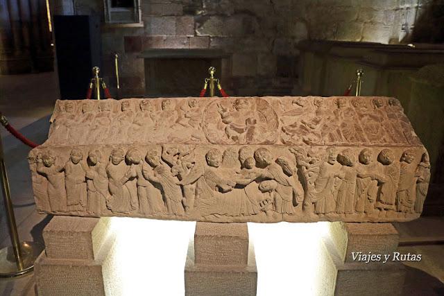 Sepulcro de Blanca de Navarra, panteón de los infantes, monasterio de santa María la Real, Nájera