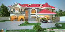 5 Bedroom Luxury Attic Home Design - Kerala