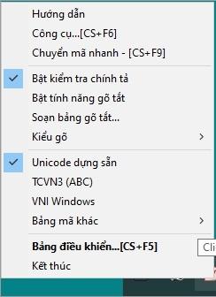 Mở nhanh Unikey bằng phím tắt