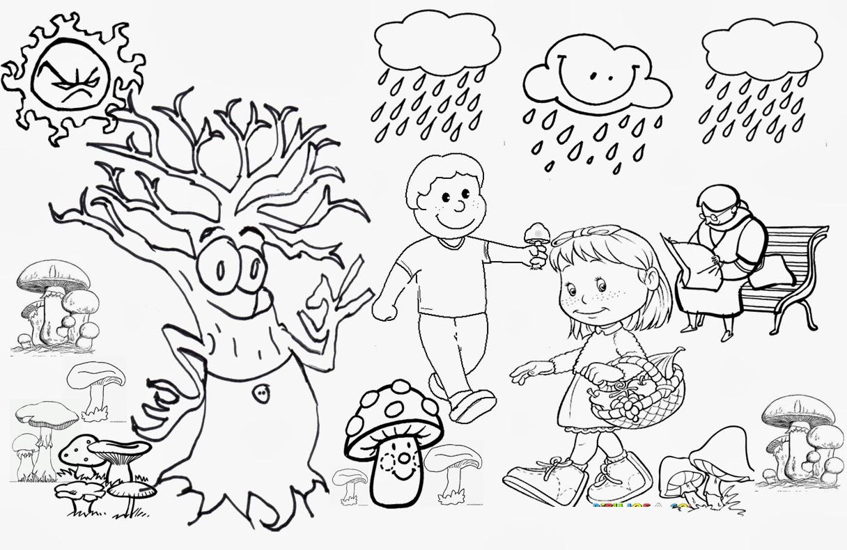 Dibujos Colorear Otono Infantil: Profe Rafa De Infantil: En Otoño Llegan Las Setas. Este