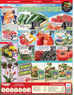 Quality Foods Flyer April 24 – 30, 2017