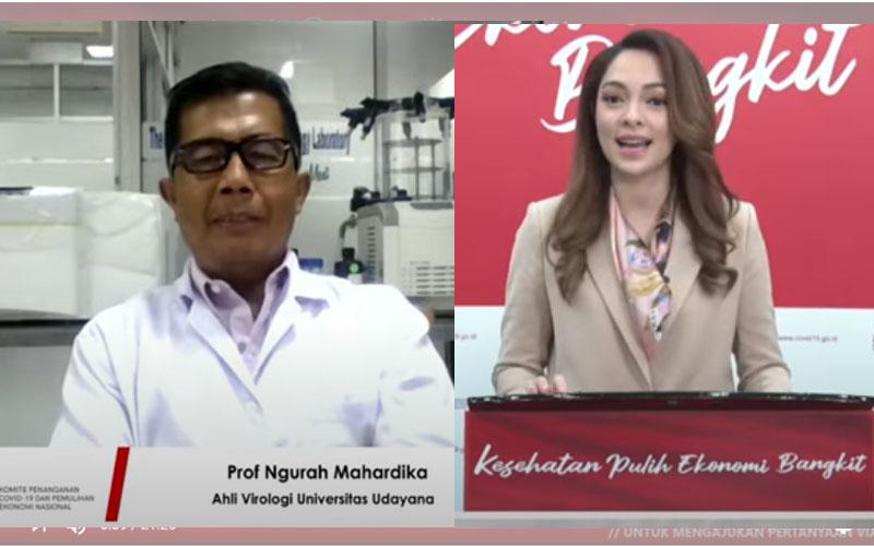 dr. Reisa bersama Ahli Virologi Univ Udayana Prof. Ngurah Mahardika.