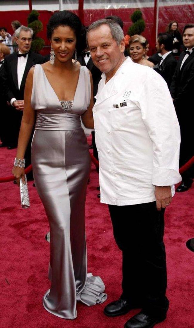 Wolfgang puck and his wife...