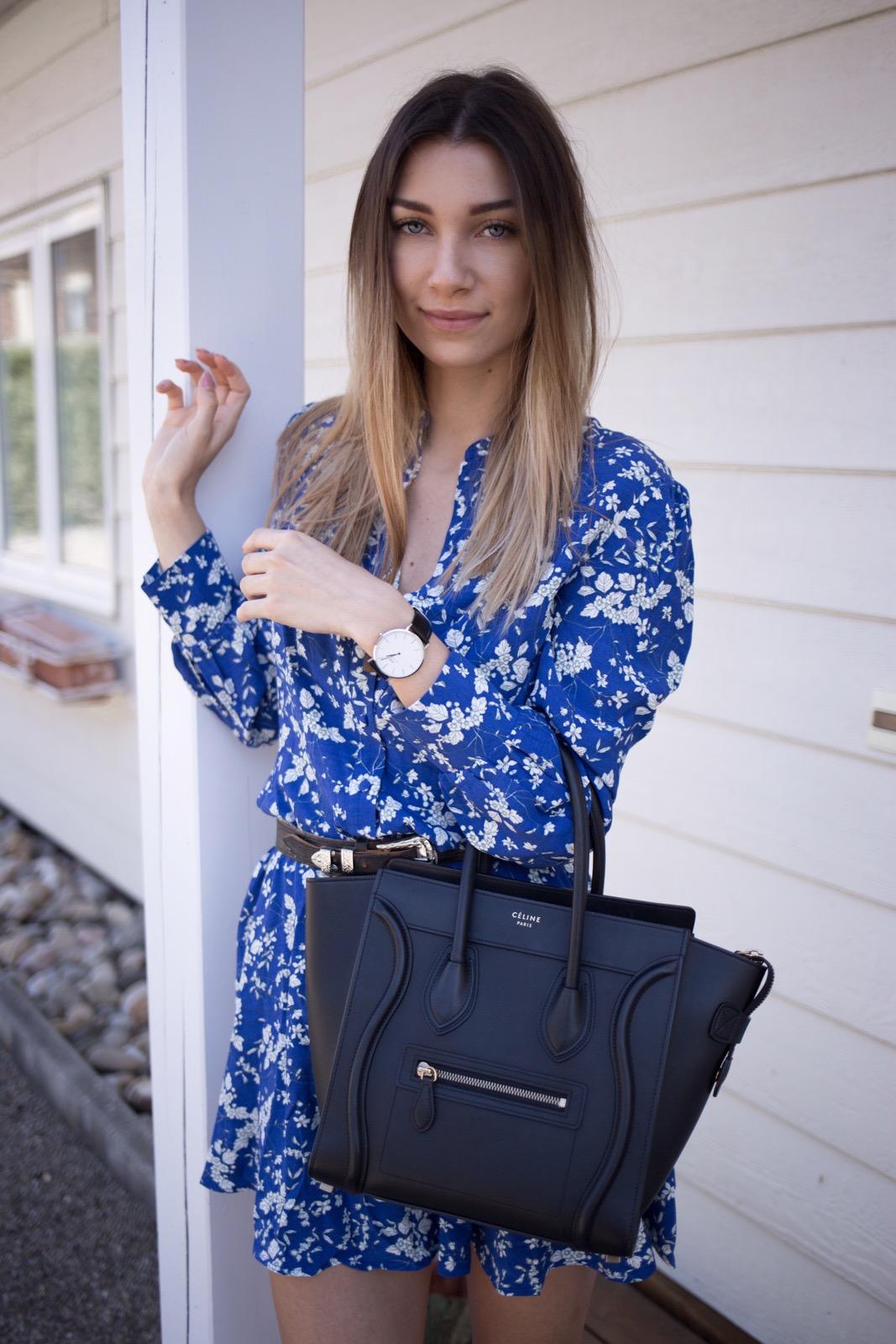 Maeva Dck, robe fleurie, robe printemps, robe h&m, blogueuse mode