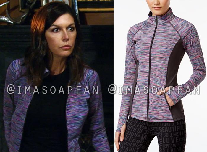 Anna Devane, Finola Hughes, Purple Space Dye Jacket, General Hospital, GH