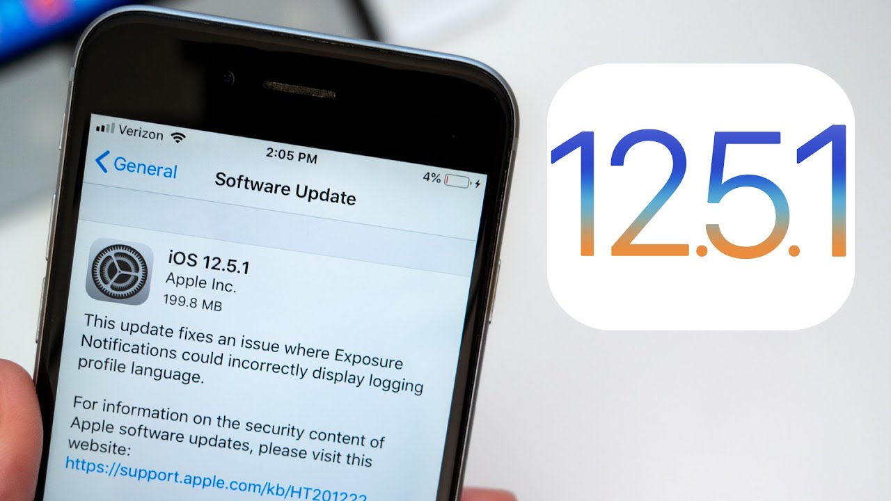 Apple releases iOS 12.5.1 for iPhones and iPads