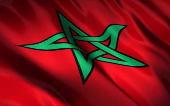 صورة علم المغرب 2018 كبيرة الحجم HD راية المغرب الحمراء