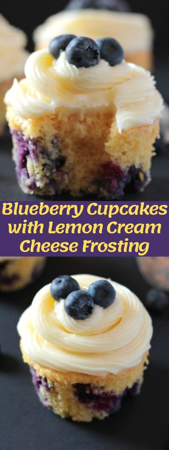 These blueberry cupcakes with lemon cream cheese frosting are so quick and easy to make, not to mention delicious!