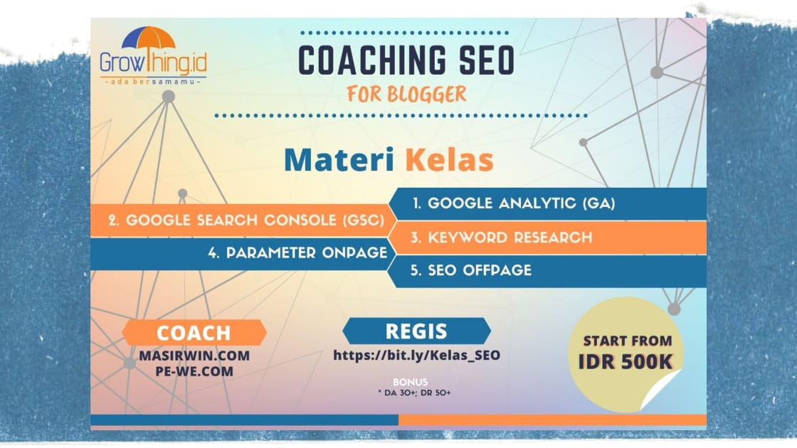 coaching seo for blogger from Growthing id