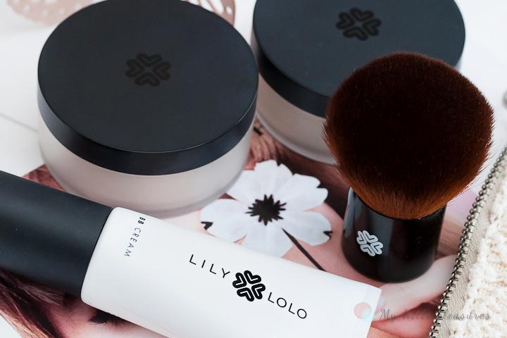 Lily Lolo | Podkład Warm Peach, Puder Translucent Silk, Krem BB Light i pędzel Super Kabuki