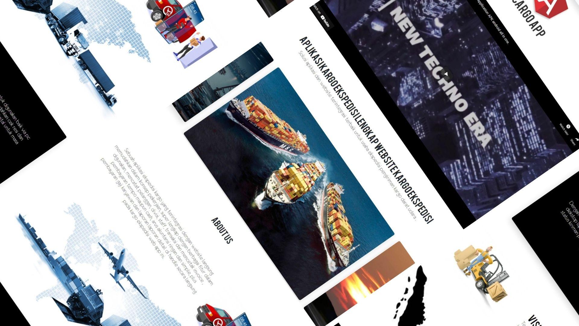 pembuatan website kargo ekspedisi pengiriman dengan resi