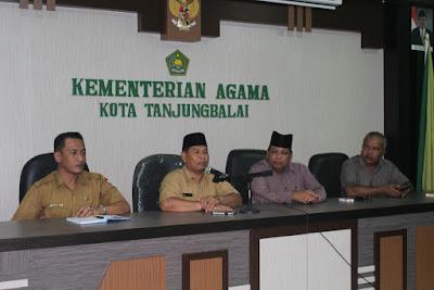 Kemenag Tanjungbalai Gelar Rapat Nusantara Mengaji 300.000 Khataman Qur'an