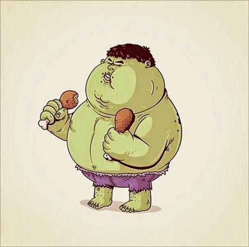 Fat Super Hero Gemuk - marvel Fat Hulk