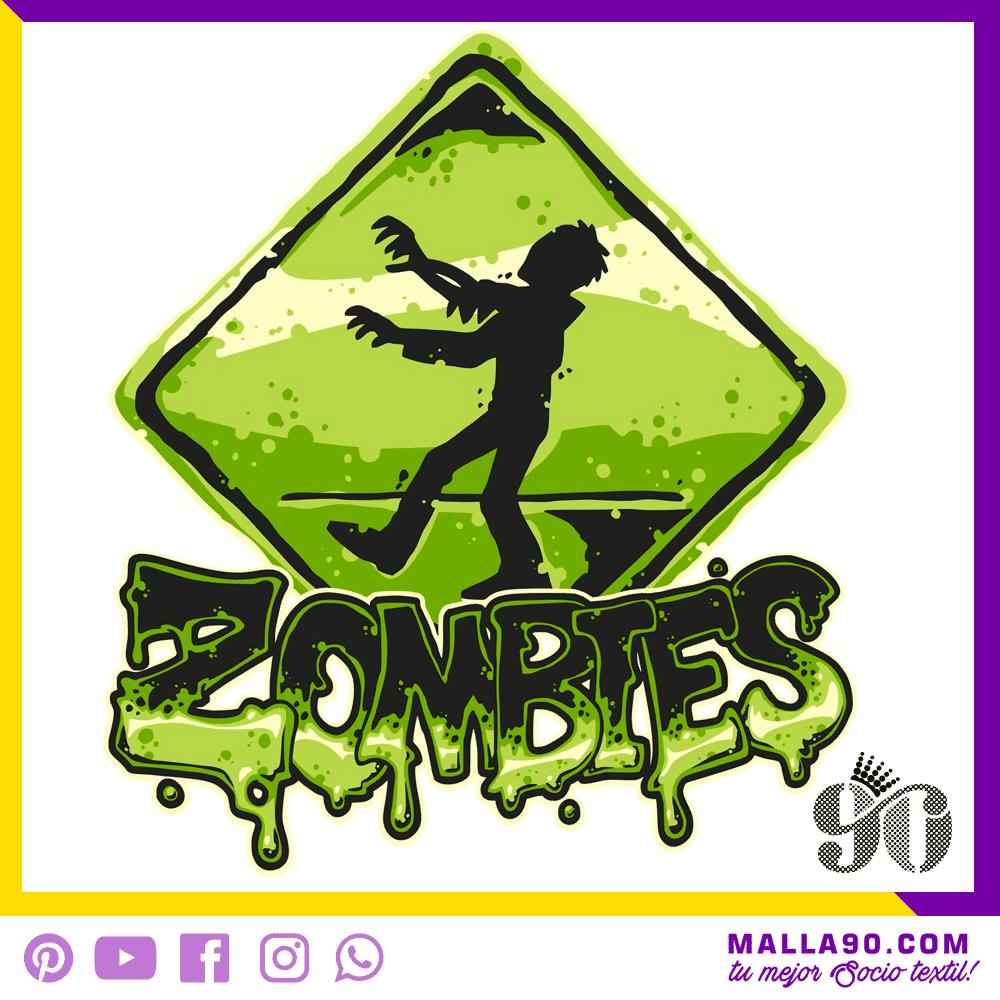 cartel de parada zombie