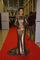 Actress Catherine Tresa in Golden Skin Tight Backless Gown at Gautam Nanda music launchi ~ Exclusive Celebrities Galleries 106.JPG