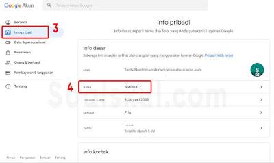 langkah 3-4 ganti nama google meet laptop
