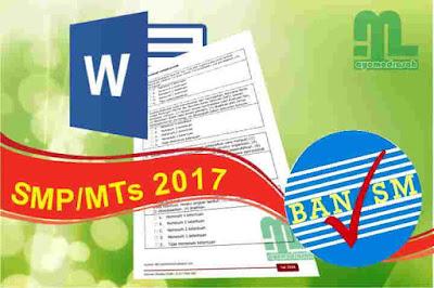 Perangkat Akreditasi SMP/MTs 2017 Format Word