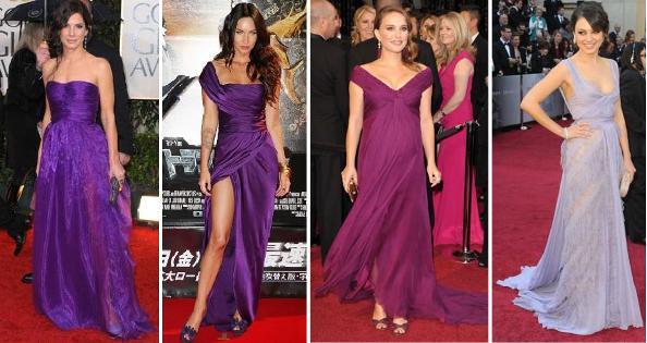 Resultado de imagem para vestidos roxo e violeta