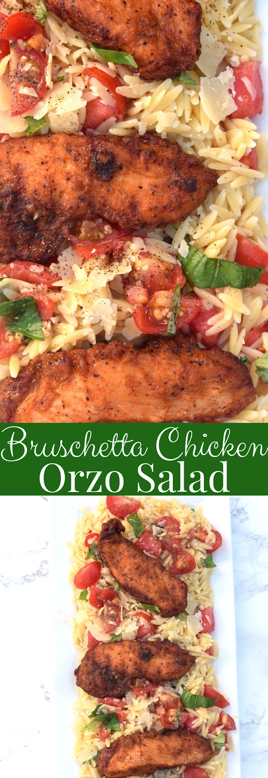 Bruschetta chicken orzo salad recipe