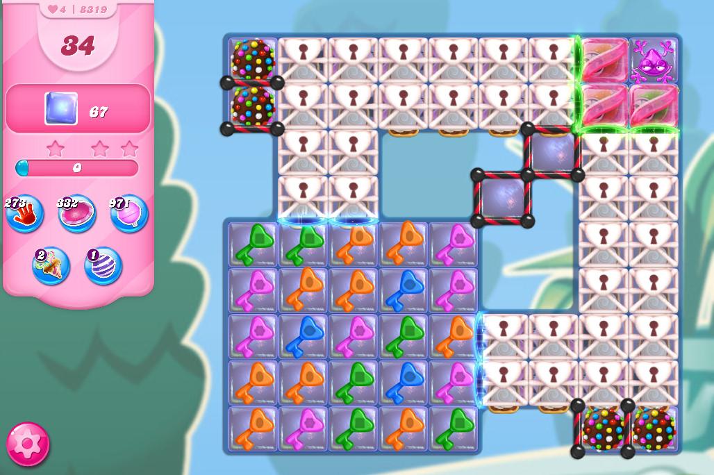 Candy Crush Saga level 8319