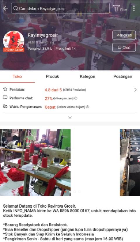 Rayintyagrosir Toko Baju Anak Terlaris di Shopee