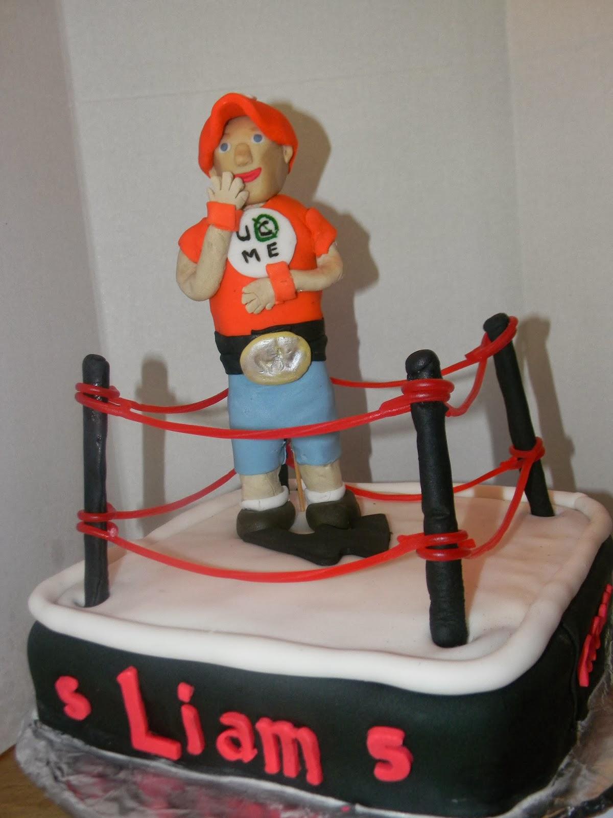 Cheryls Cakery Wrestler Cake Topper
