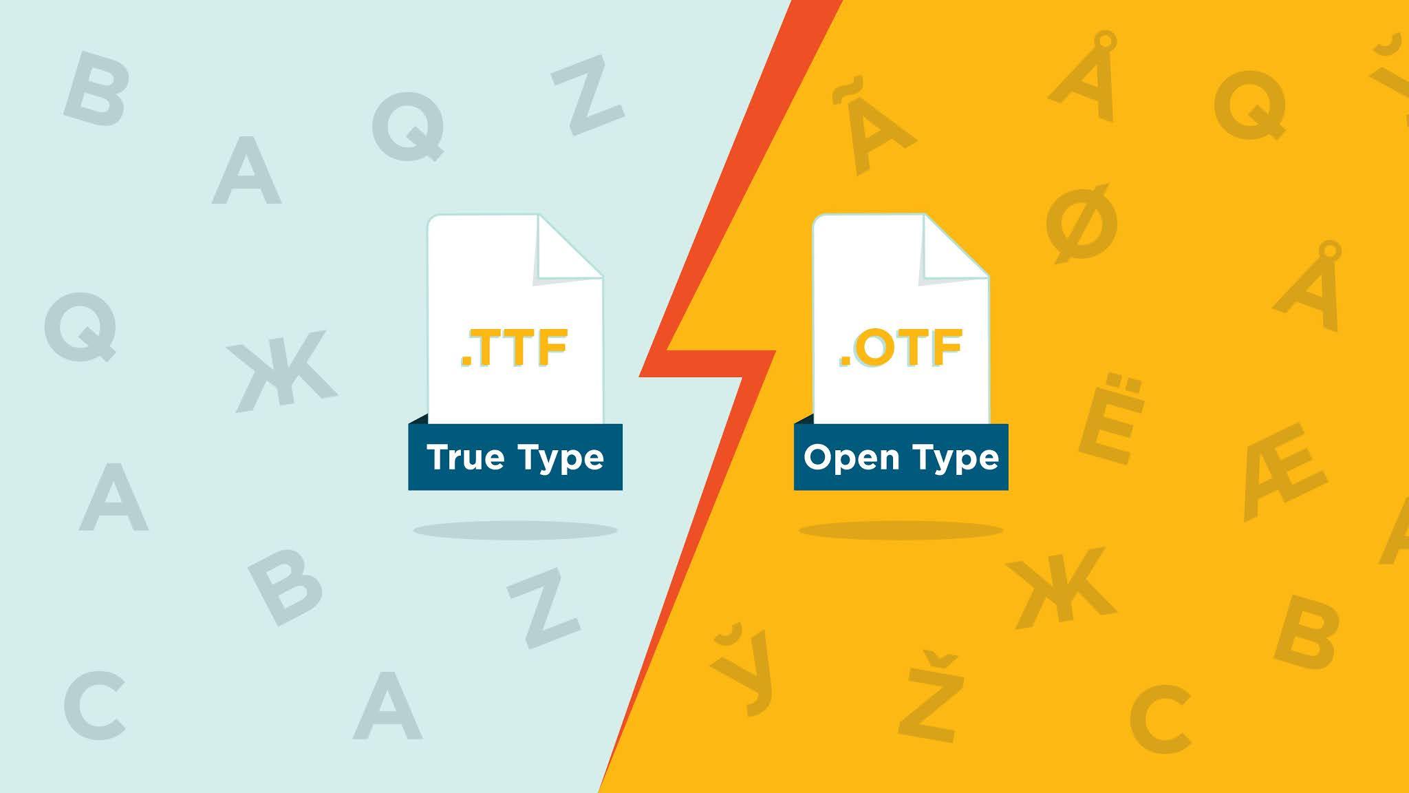 Perbedaan Antara TrueType Font (TTF) dan OpenType Font (OTF)