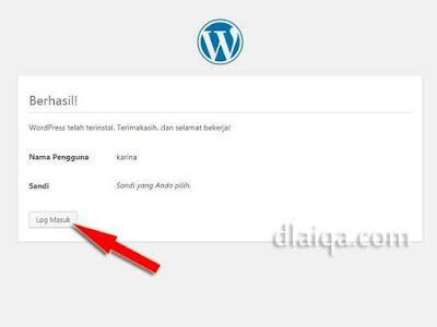 klik Log Masuk