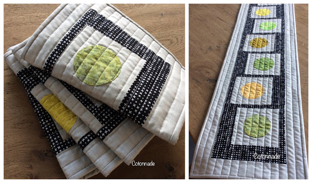 Inspired by Luna Lovequilts - Table runner made by Cotonnade