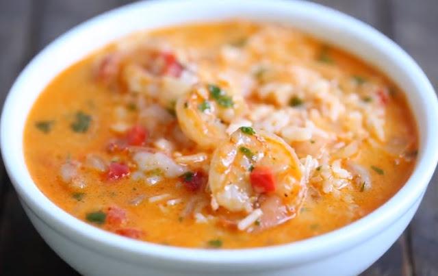 Easy Thai Shrimp Soup #dinner #soup