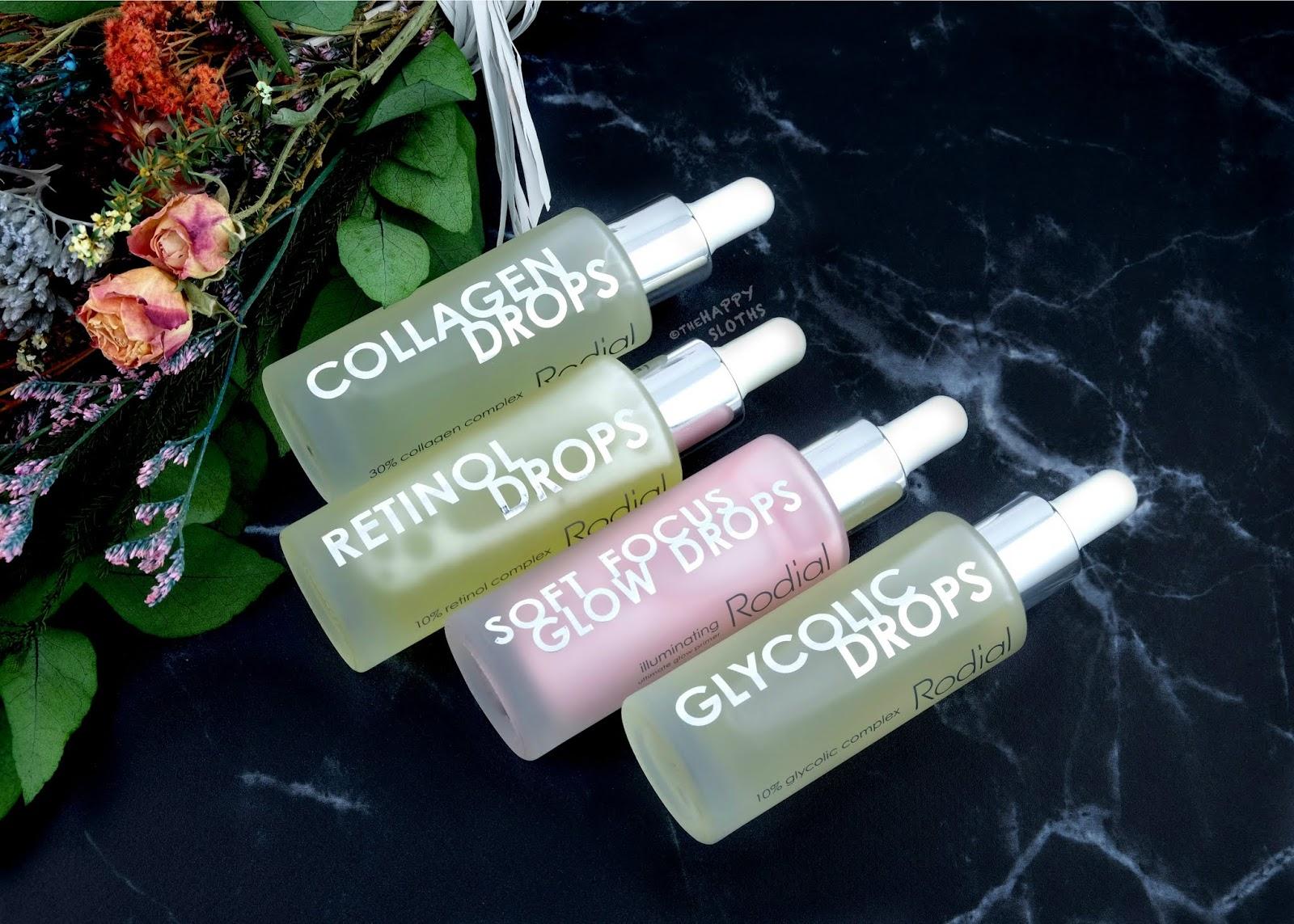 Rodial   Glycolic Drops, Retinol Drops, Collagen Drops & Soft Focus Glow Drops: Review