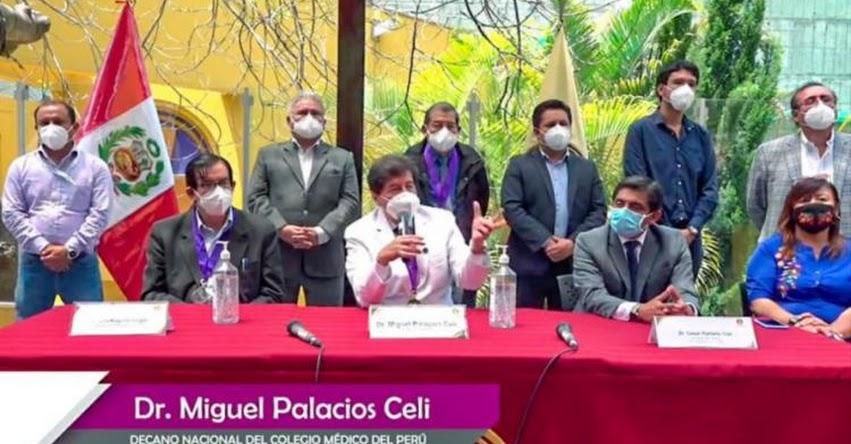 CMP: Colegio Médico propone inmovilización de 8 p.m. a 4 a.m. por dos semanas