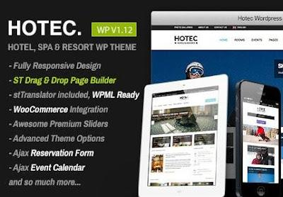 Hotec v2.5 Responsive Hotel Wp Theme Free