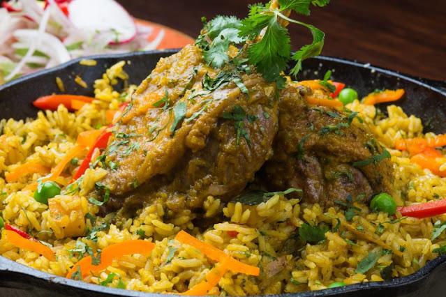 arroz con pato peruano