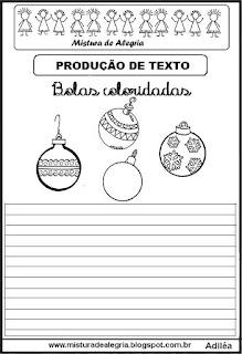 Produção de texto bolas de natal