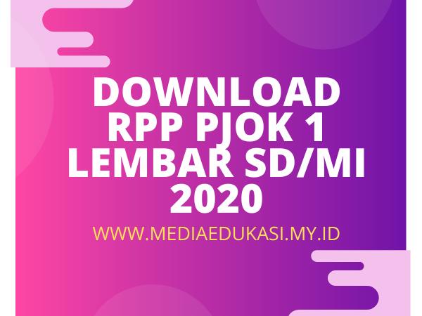 RPP PJOK 1 Lembar Kelas 1 Tema 1 SD/MI K13 Revisi 2020