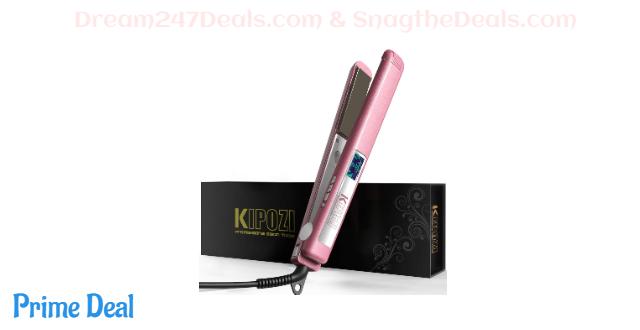 KIPOZI Hair Straightener 1 Inch Titanium 40% OFF
