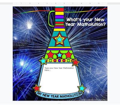My New Year Matholution! Pennant - print and digital