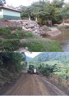 Prefeitura de Miracatu realiza manutenção na estrada da Barra Funda