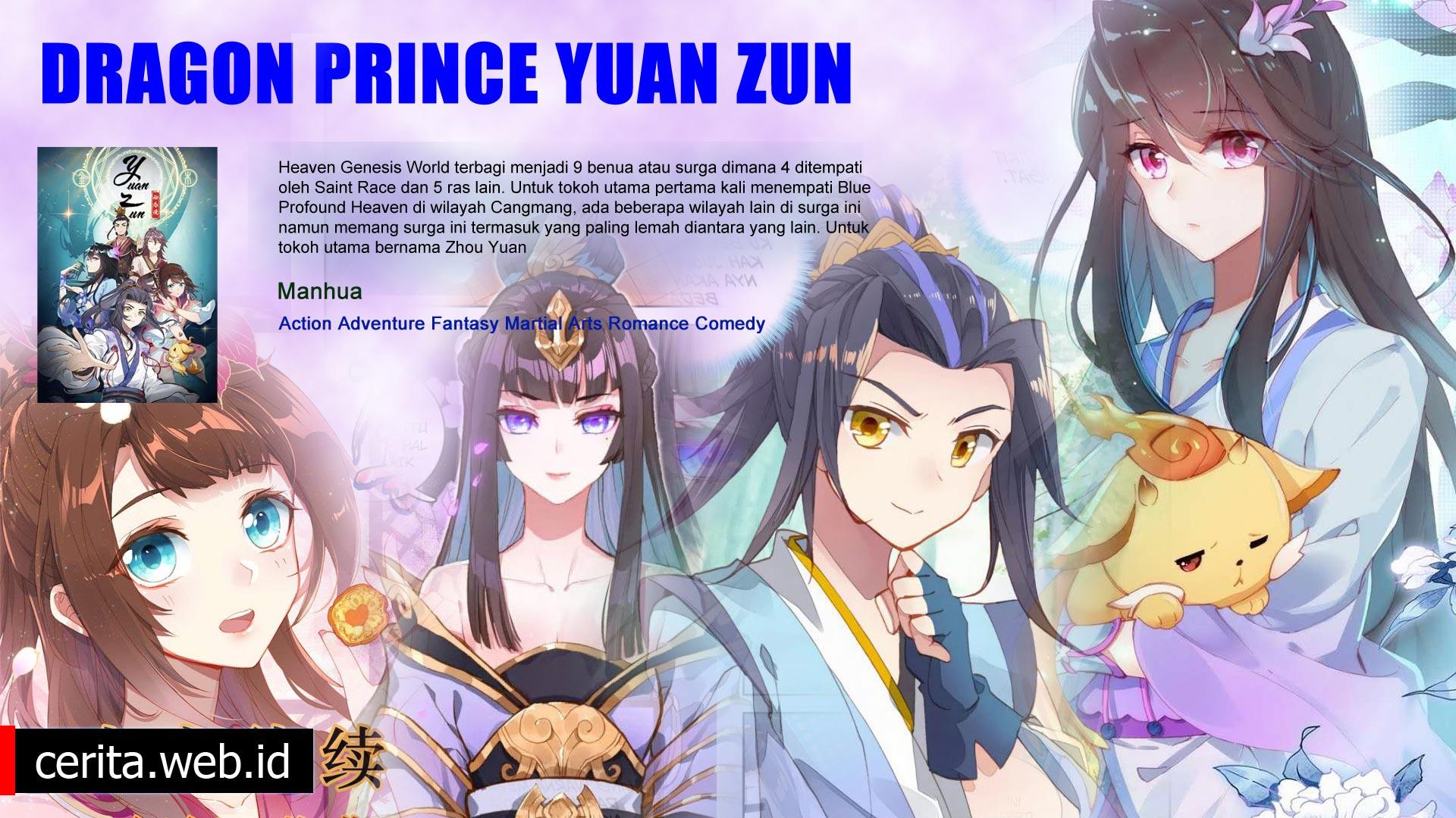 Sinopsis Dragon Prince Yuan Zun Novel Komik MC Lemah Menjadi Kuat